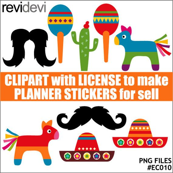 Cinco de mayo mexican clipart  commercial use clip art by revidevi