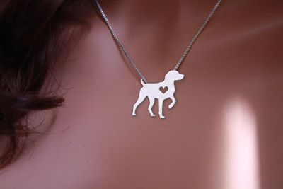 Show your German Shorthaired Pointer how much you love them with this beautiful silver front pendant necklace! Includes 18 inch zinc alloy chain.   Buy this nec