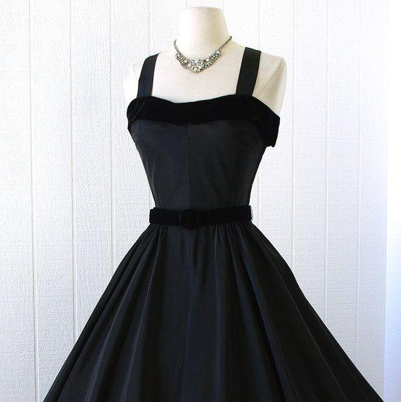 vintage 1950's dress ...classic never worn R&K ORIGINAL by traven7