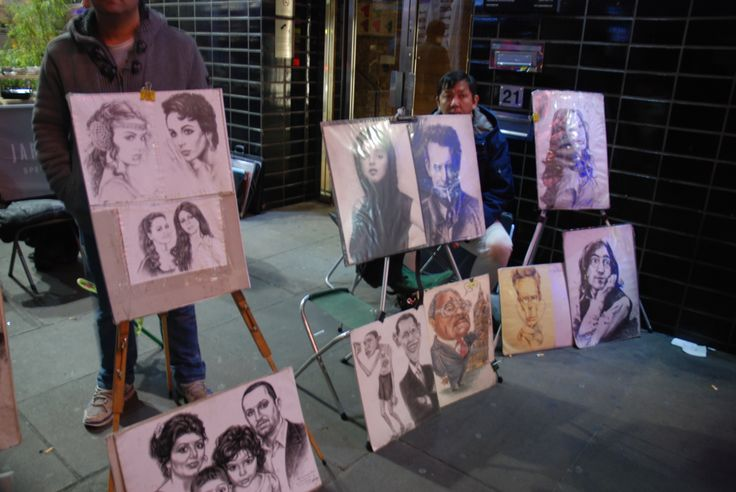 Artists at the streets of London