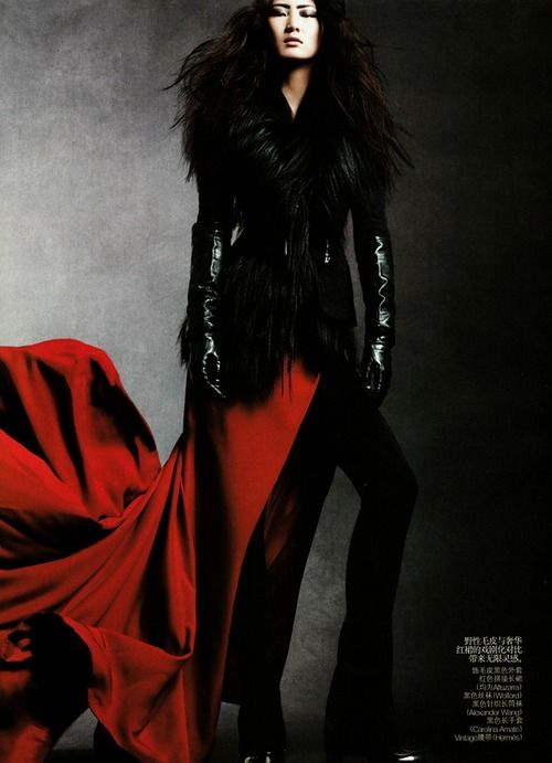 Daniel Jackson photog: Red, Ping Hue, Daniel Jackson, Posts, Fashion Photography, Vogue China, Black