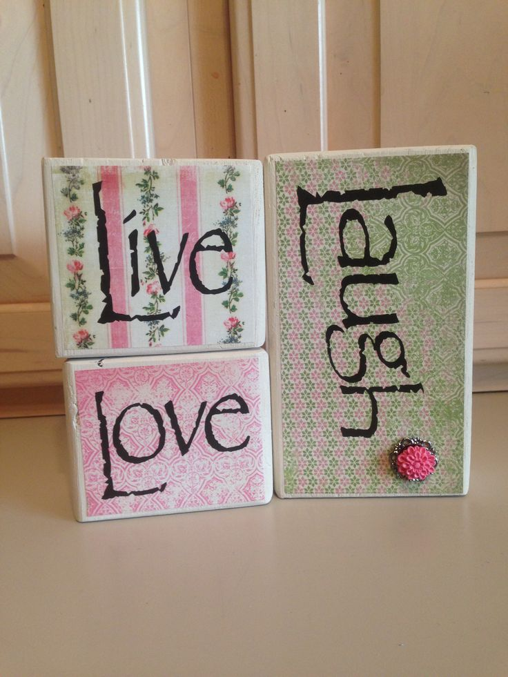 Live Love Laugh blocks