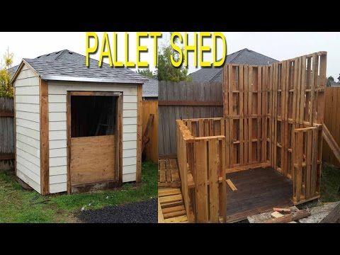 Da han var ferdig med dette byggeprosjektet var det umulig å se at det er laget av paller. SMART! - Kreative Idéer