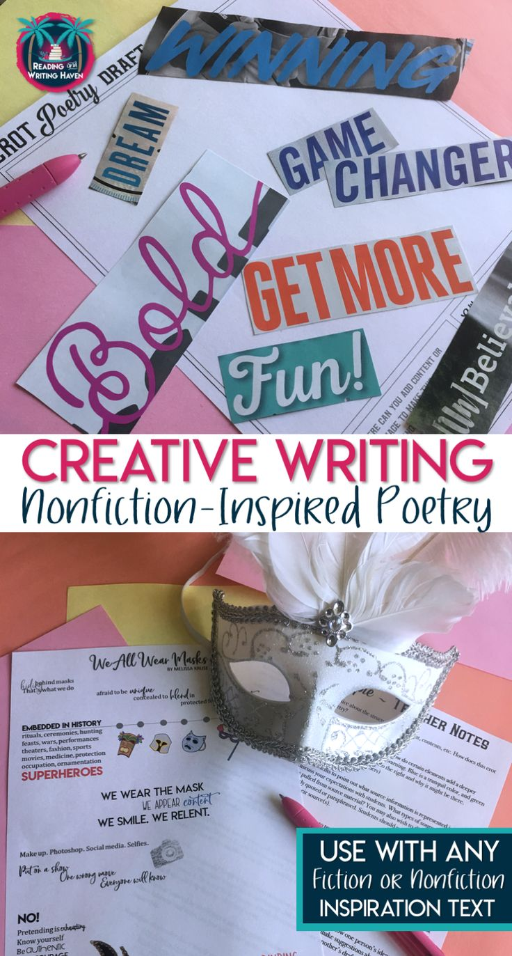 Incorporate nonfiction in your poetry lessons, or poetry in your nonfiction lessons. This creative writing assignment is sure to engage students and encourage them to respond meaningfully and thoughtfully. #highschoolela #creativewriting #poetry