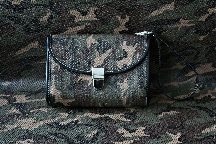 """Купить Клатч """"Милитари"""" - камуфляж, подарок девушке, подарок на новый год, Новый Год, сумка камуфляж"""
