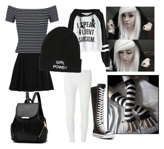 if i was emo by zoeburton061 on Polyvore featuring polyvore fashion style Miss Selfridge Dorothy Perkins River Island West Blvd clothing