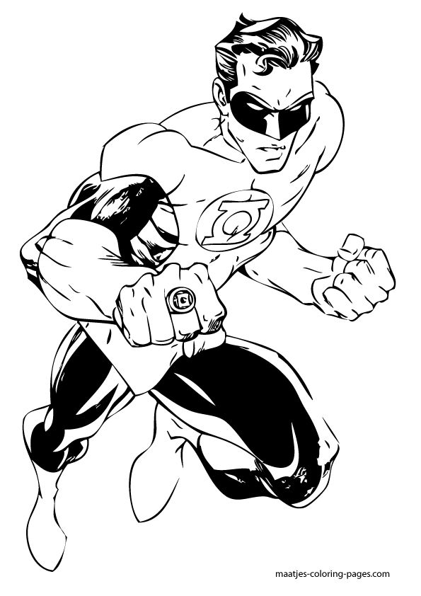 coloring pages of green lantern - Green Lantern Logo Coloring Pages