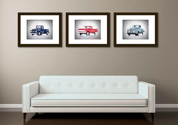 *PRINT SET INCLUDES A 30% DISCOUNT over regularly priced single prints.  Name : Discount set of 3 Ford Pickup photos  1948 Ford pickup F-1 1956 Ford