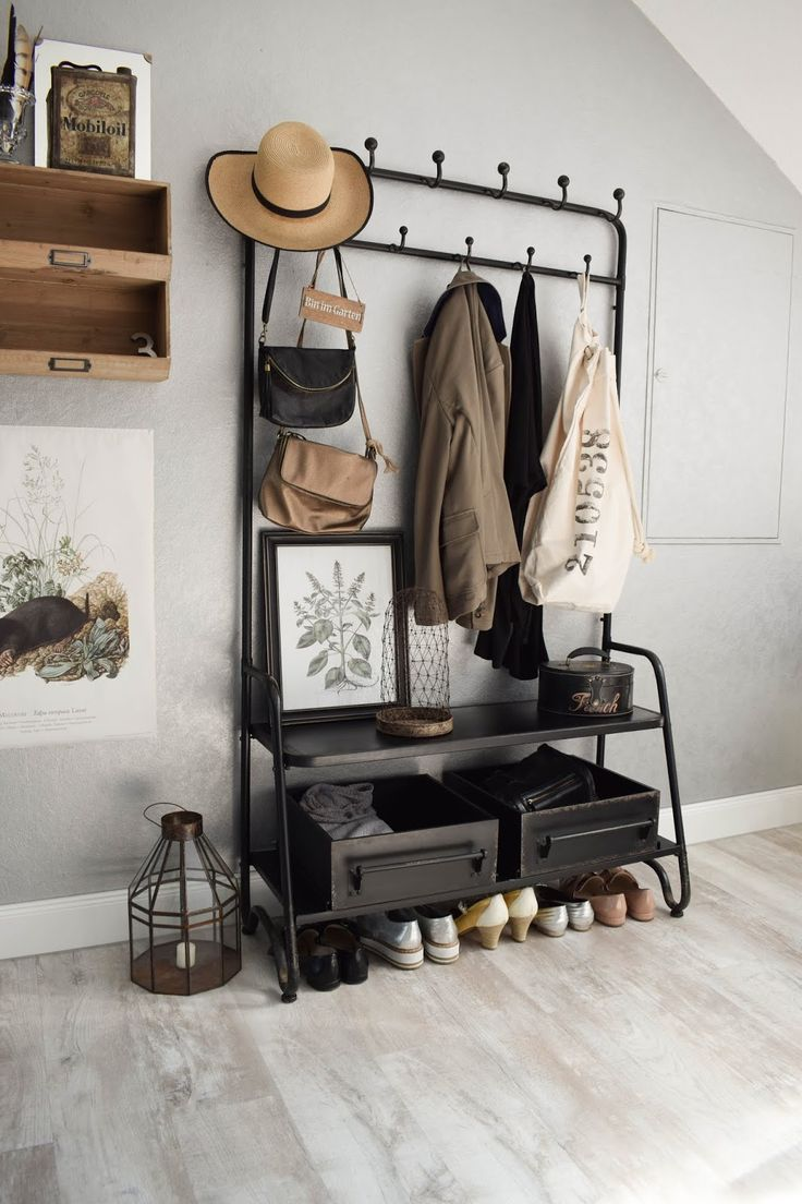 Garderobe Diele Flur Eingangsbereich Deko Dekoidee…