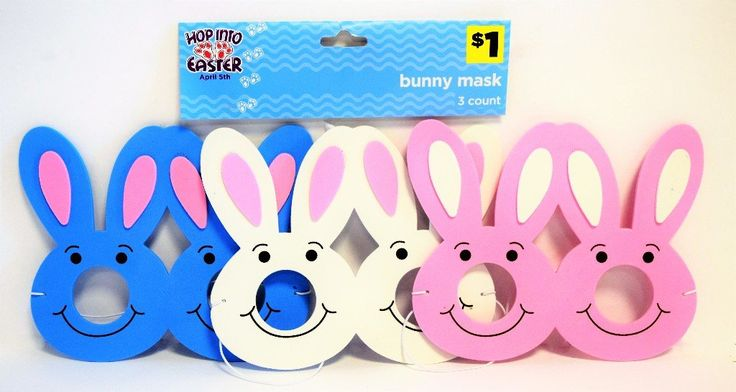 Easter Bunny Mask - 3 Pack - 24 Units