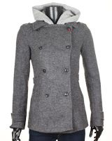 Palton Bershka Dama Grey Hooded (Bershka)