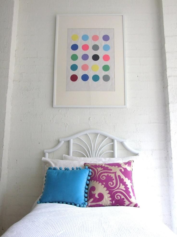 """""""Dotty"""" Kids Fabric Wall Art, $79.95"""