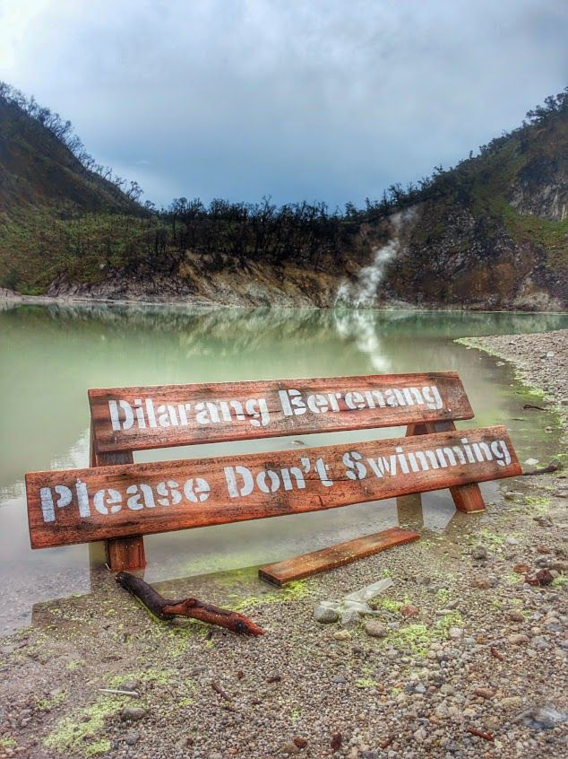 Kawah Putih - Sulphur lake on Java, Indonesia