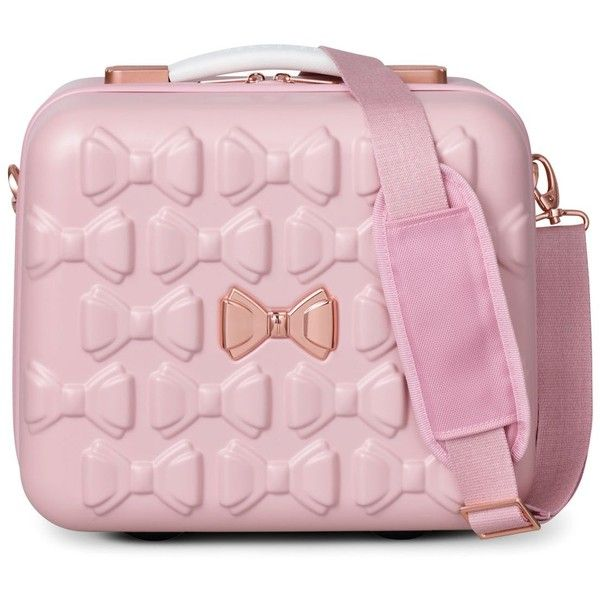 Ted Baker Beau Vanity Case (£170) ❤ liked on Polyvore featuring beauty products, beauty accessories, bags & cases, pink and ted baker