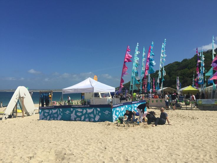 The perfect setting for the festival on Porthminster Beach, St Ives. #StIvesFDFestival