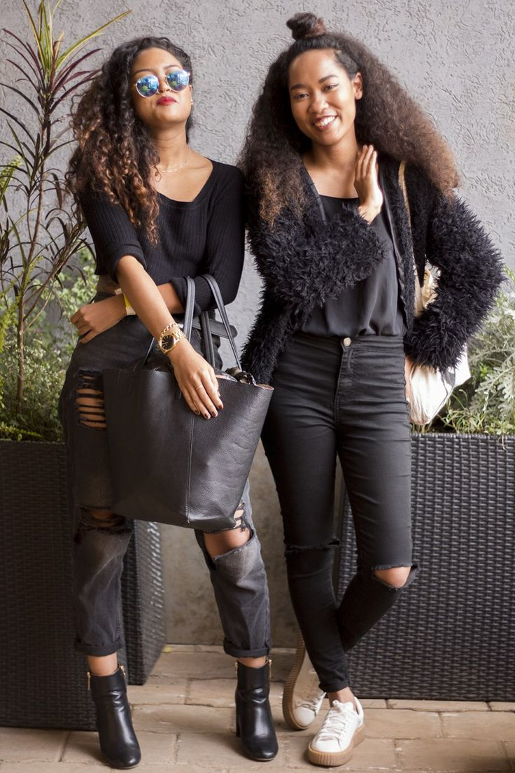 The lovely sisters from creative duo 2.Endo, seen at Thrift Social 6 in Nairobi