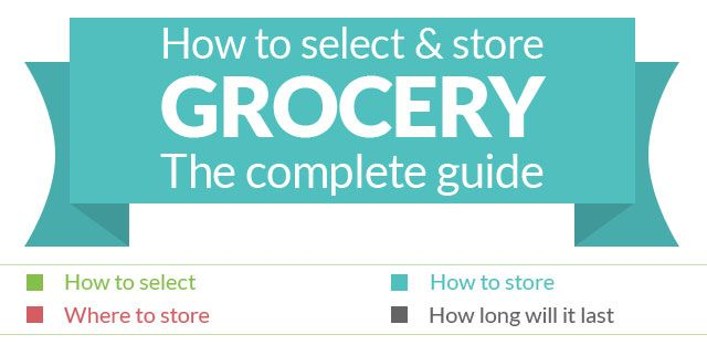 How to select and store GROCERY :)