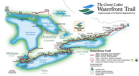 waterfront trail (so I can run when we are docked at Port Dalhousie especially)