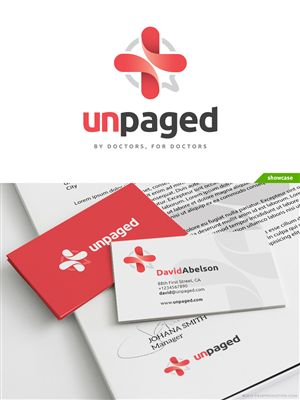 Unpaged - Untied and Unwired Junior Doctors Personable, Playful Logo Design by Creathrive