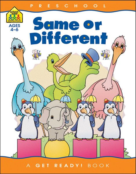Preschool Workbooks 32 Pages-Same Or Different