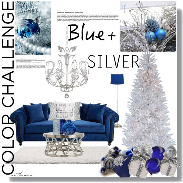 """""""Blue and Silver Christmas"""" by arethaman ❤ liked on Polyvore"""