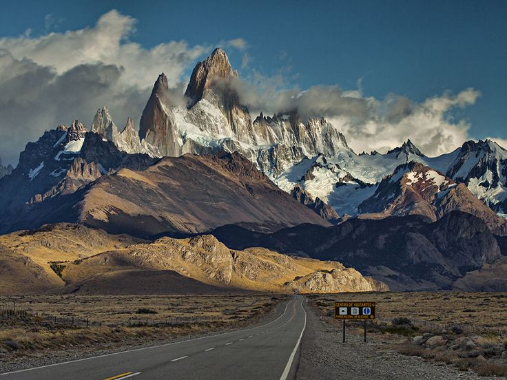 The Road Leading To The Mountain Of Fitz Roy   Located near El Chaltén village, in the Southern Patagonian Ice Field in Patagonia, on the border between Argentina and Chile.