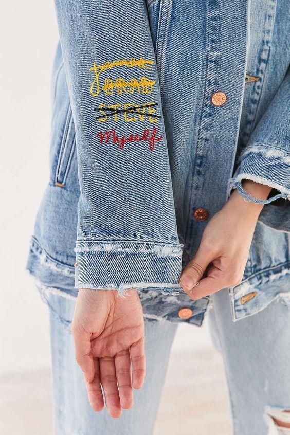 b3e26c6924 10 idee per personalizzare una giacca in jeans | DIY | Diy clothes ...