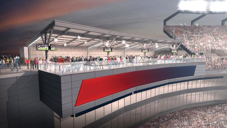 Improvements in the works for upper concourse of Gillette Stadium