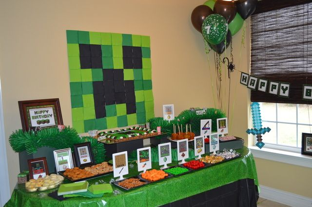 Minecraft Birthday Party Ideas | Photo 5 of 21 | Catch My Party