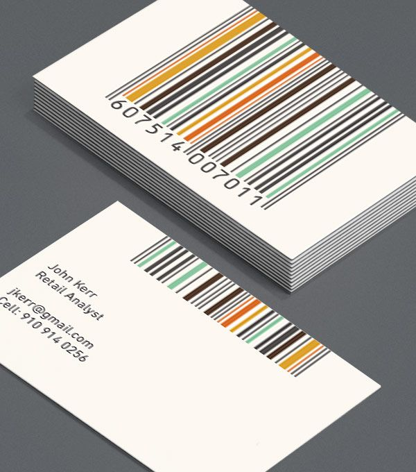 30 best business card images on pinterest carte de visite nothing says sale louder than a barcode and these colorful codes make great business cards for retail consultants or anyone in the business of retail colourmoves