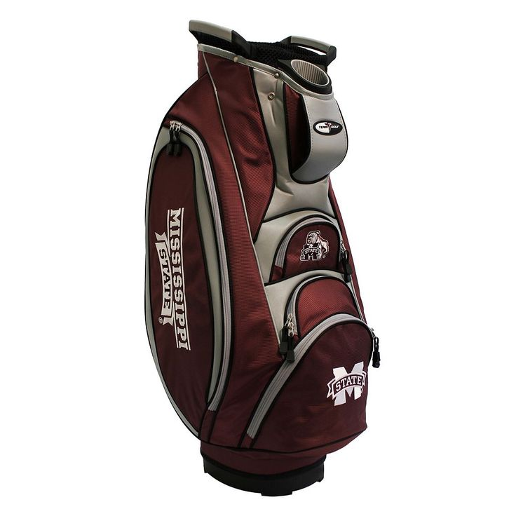Team Golf Mississippi State Bulldogs Victory Golf Cart Bag, Multicolor