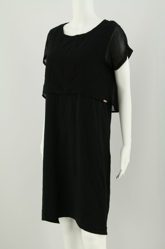 HUGO BOSS RED LABEL Gr. M Schwarz Damen Kleid Stretchkleid Dress