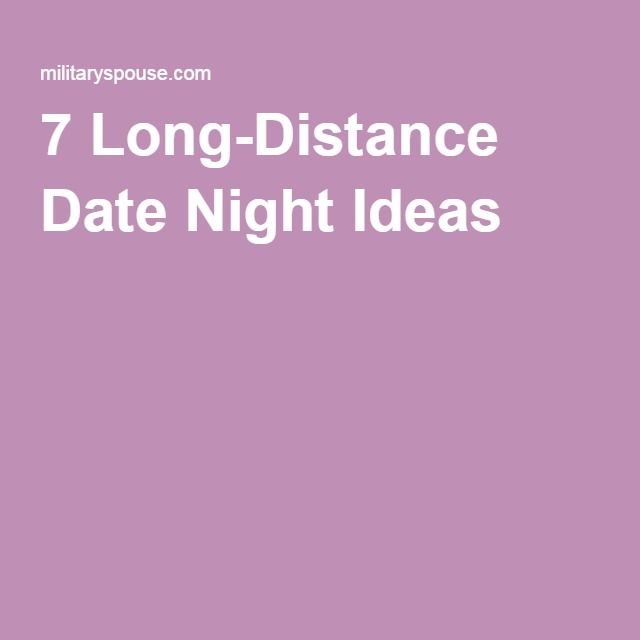 Dating from a distance