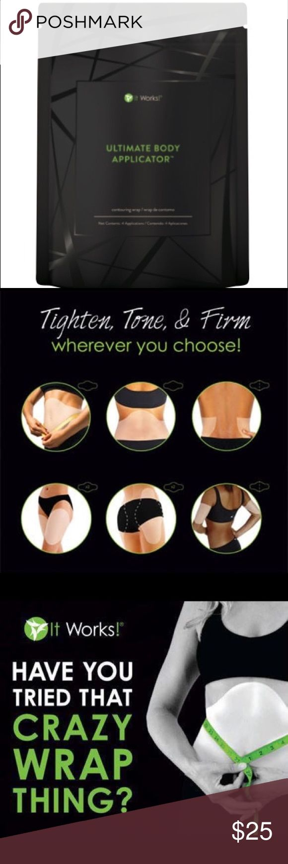 Skinny Wrap How do the wraps work?🤔  💚They are botanically infused, designed to tighten and tone your body.  💚They reduce cellulite, stretch marks, loose skin, and shrinks your fat cells.   Includes 1 body applicator & 40% off all other products 😍 Makeup