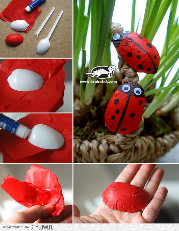 Five Spring Ideas from Plastic Spoons | krokotak