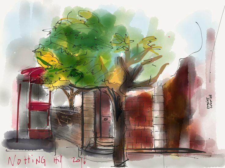 #Urban #sketch, London © Pauline Lugon 2016 Made with Paper / fiftythree.com