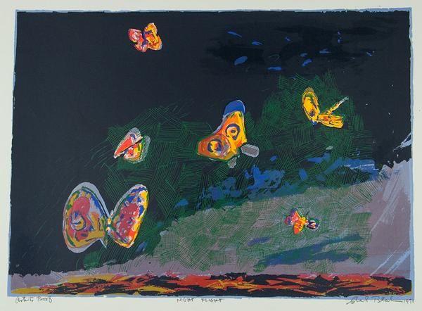 Artist:Charles BLACKMAN, (1928 - ) RARE**LAST ONETitle: 'Night Flight', 1970Medium: Screenprint at Paddington Print Studio.Edition: APImage Size: 55 x 76 cm (he