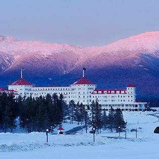 Here's a list of the ski resorts with the best lodging options from the #ResortSurvey. This is the Mt. Washington Hotel, from East || No. 8: Bretton Woods, New Hampshire.