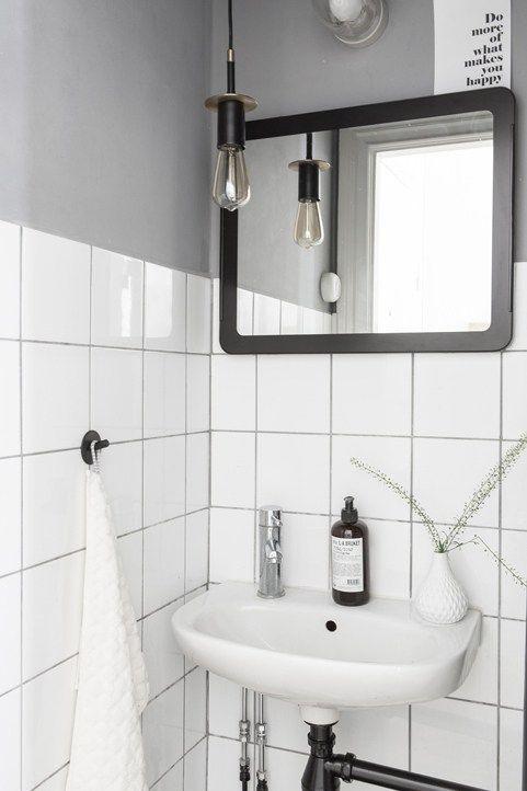 basic bathroom in b&w