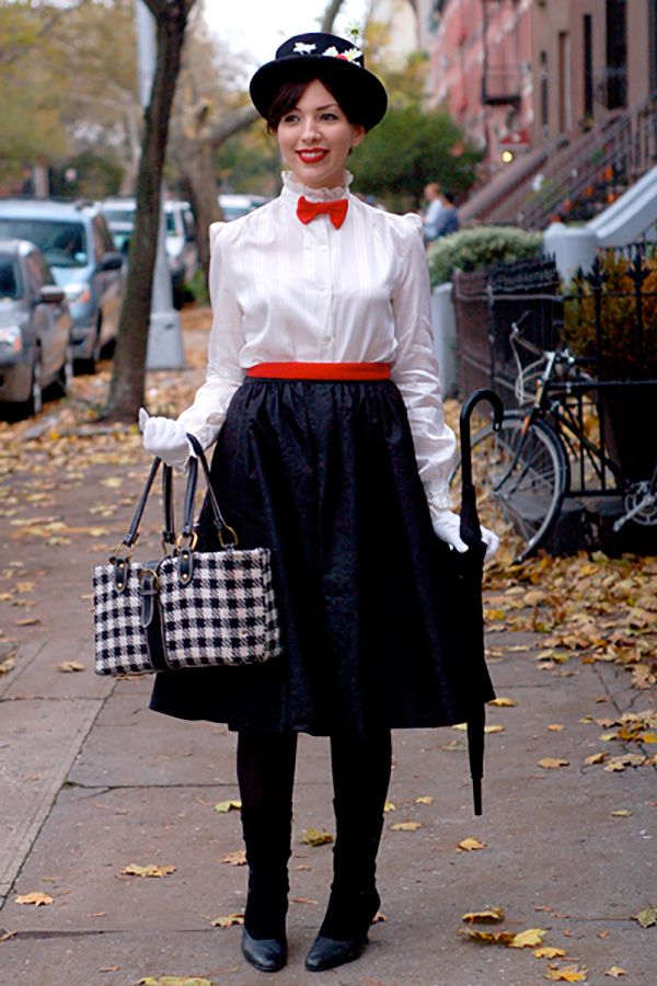 A spoon full of sugar and some creativity. Goodwill DIY Costumes: Mary Poppins by Keiko #DIY #Halloween #Costumes #thrift