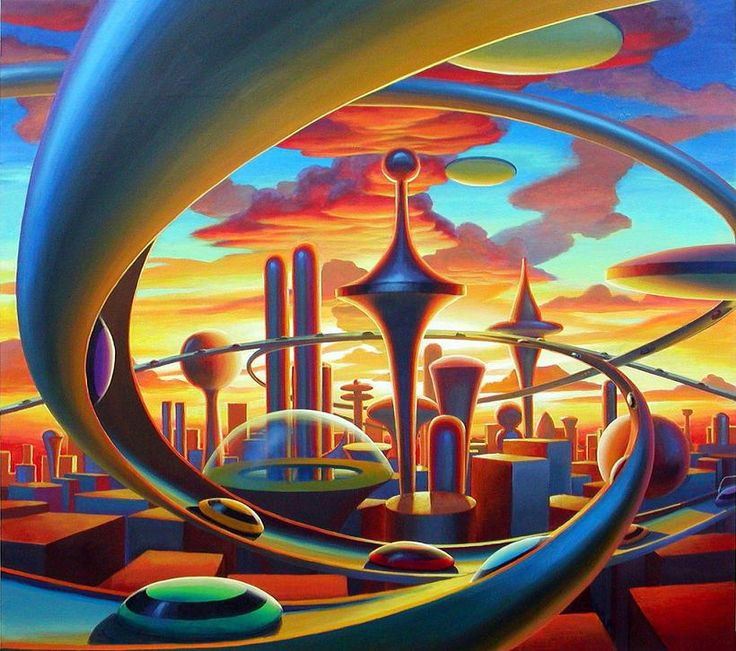 10 Cool Sci Fi Retro Artworks: 448 Best Atomic Age - Futurism Images On Pinterest