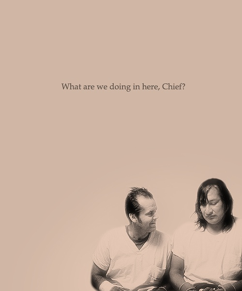 """chief and mcmurphy essay Mcmurphy was the one that encouraged chief to speak for the first time after so many years of silence, when he said, """"thank-you"""" (kesey, 1962, p 217) this ultimately healed chief of his illness."""