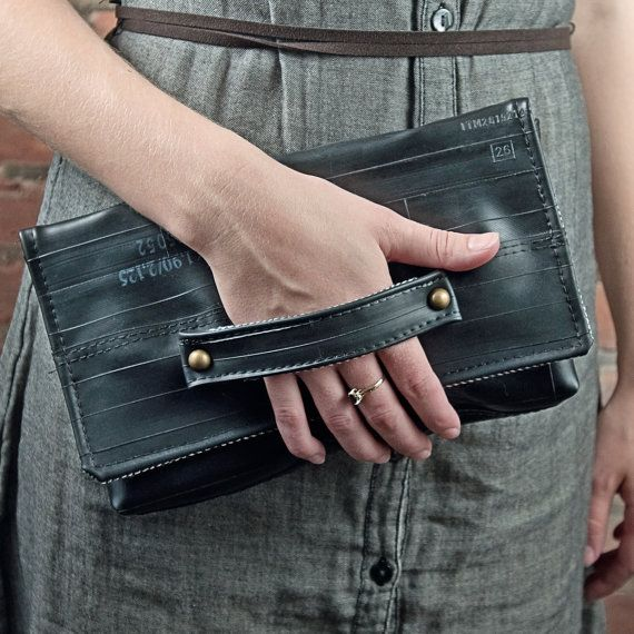 Bike Inner Tube Whitney Clutch by EvenOddCreative on Etsy, $90.00