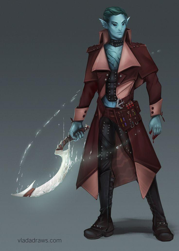 ArtStation - Water Genasi Blood Hunter, Vlada Monakhova