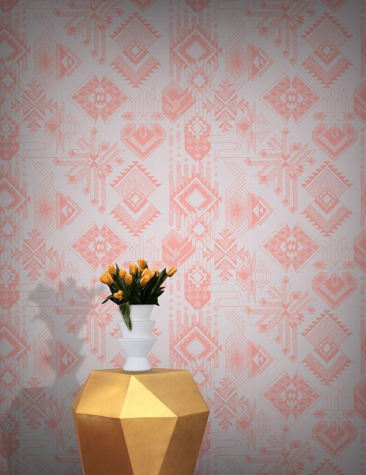 Lunar Gems Wallpaper by Michiko Design | FEATHR™