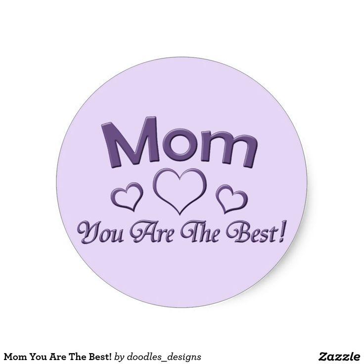 Het mamma u is het Beste! Ronde Stickers