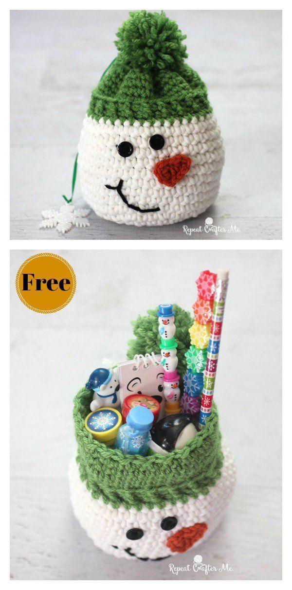 Christmas Gift Sack Bag Free Crochet Pattern | navidad | Pinterest ...