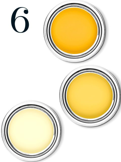 Partly Sunny: Soft but not too sweet, uplifting but not over-powering, Glidden's Soft Candlelight works in large doses—like on walls.