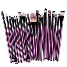 20X Conjunto de Maquiagem Em Pó Fundação Sombra Delineador Lip Beleza Cosméticos Escovas 7214 alishoppbrasil