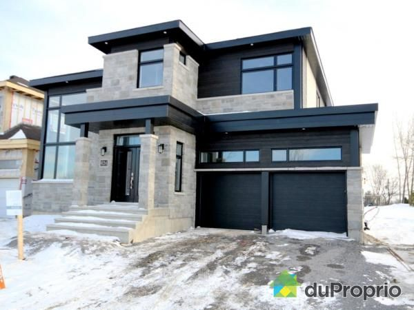 74 best images about maison ext rieur on pinterest for Modern house quebec